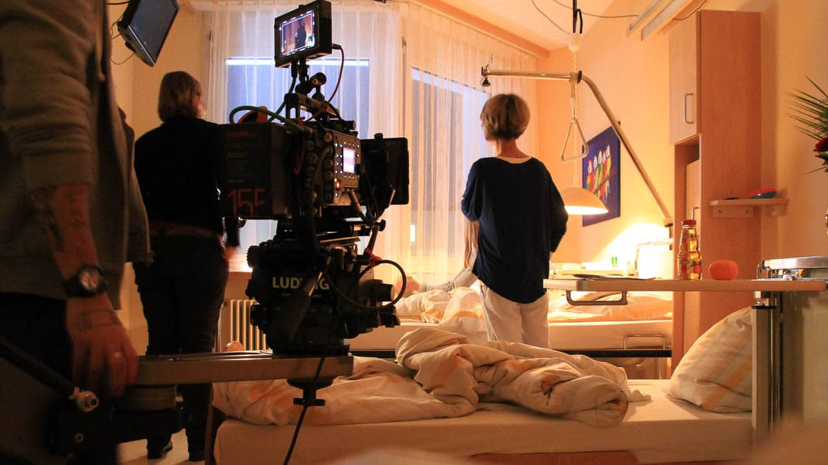 Film set illuminated with Arri Alexa on Dolly